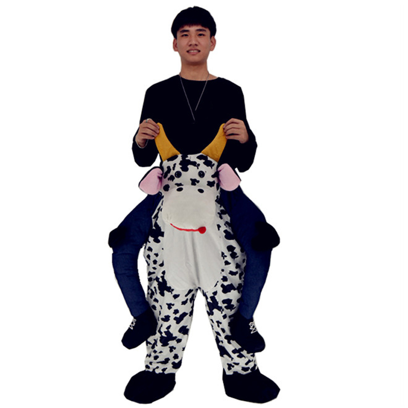 Adult Christmas Deluxe Costume Piggy Back Cow Costume Cattle Bull Cosplay Outfit Ride on Riding Shoulder Costumes for Holloween  sc 1 st  AliExpress.com & Adult Christmas Deluxe Costume Ride on Cow Costume Cattle Bull ...