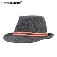 BUTTERMERE Summer Beach Sun Hats Ladies Vintage Stylish Casual Straw Hat Basic Spring Korean Classic Fedora For Mens