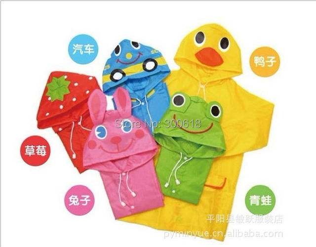 Free Shipping Kids Rain Coat children Raincoat Rainwear/Rainsuit,Kids Waterproof Animal Raincoat 1pcs/lot