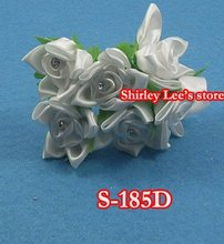 Wholesale--120 bunches=720pcs fabulous Diamante Satin Star Flower (Free Shipping by Express to some countries)