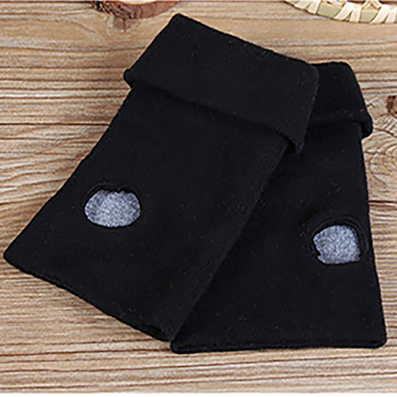 Boys Costume Accessories Anime One Piece Monkey D Luffy Half Finger Cotton Knitting Wrist Gloves Mitten Lovers Anime Accessories Cosplay Gloves Fashion