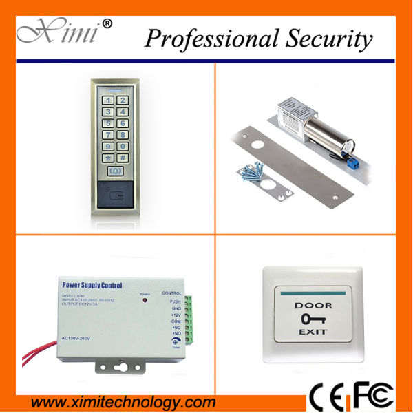Good quality door access control 8000 card users standalone access control kit