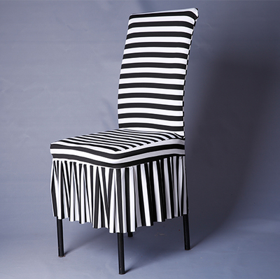 lycra chair covers for sale pink toddler rocking 1 piece white and black zebra striped pattern spandex fancy ...