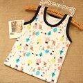 2016 New Cartoon Children's T-shirt Animals Print Sleeveless Baby Boy Tops Cotton Unisex Toddler Summer Shirts for Baby Girl