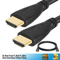 High Speed hdmi to hdmi Cable 0.5M 1M 1.5M 2M 3M 5M 10M 15M Gold Plated Plug HDMI Cable 1.4 Version 1080p 3D for HDTV XBOX PS3