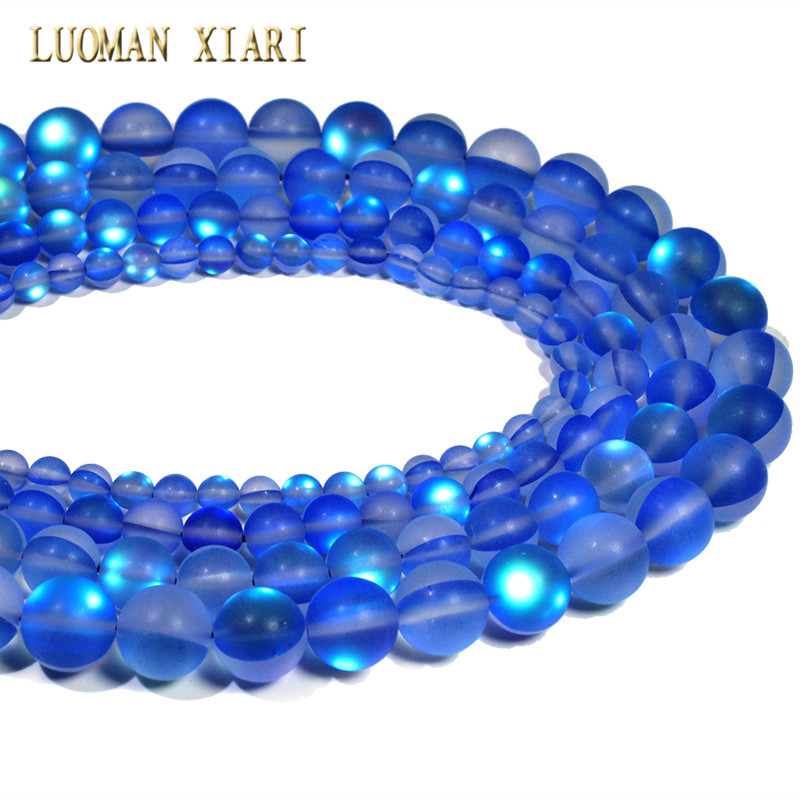 Glitz Glam Blue Diamontrigue Jewelry: Wholesale Dark Blue Austria Crystal Glitter Synthesis Moon