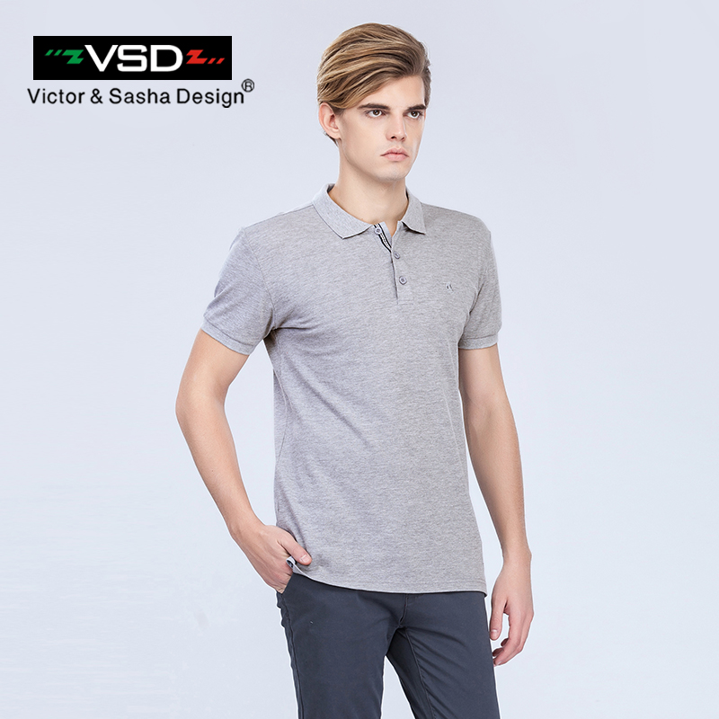 Victor&Sasha Design 2017 Summer Casual Print Slim Fit Cotton   Polos   Shirts Men Short Sleeve Italian Famous Brand Men's Homme Y610