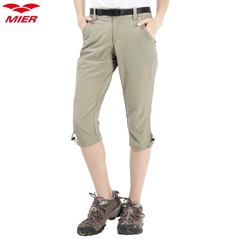 MIER Womens Stretchy Hiking Shorts Quick Dry Cargo Shorts with 6 Pockets Water Resistant and Lightweight