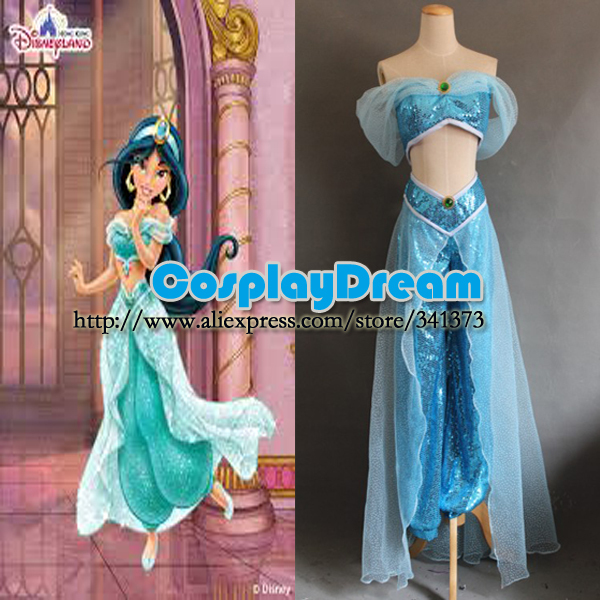 Custom made Aladdin Jasmine Princess Cosplay Costume Adults Fairy Tale fancy dress cosplay costume - CosplayDream Store store