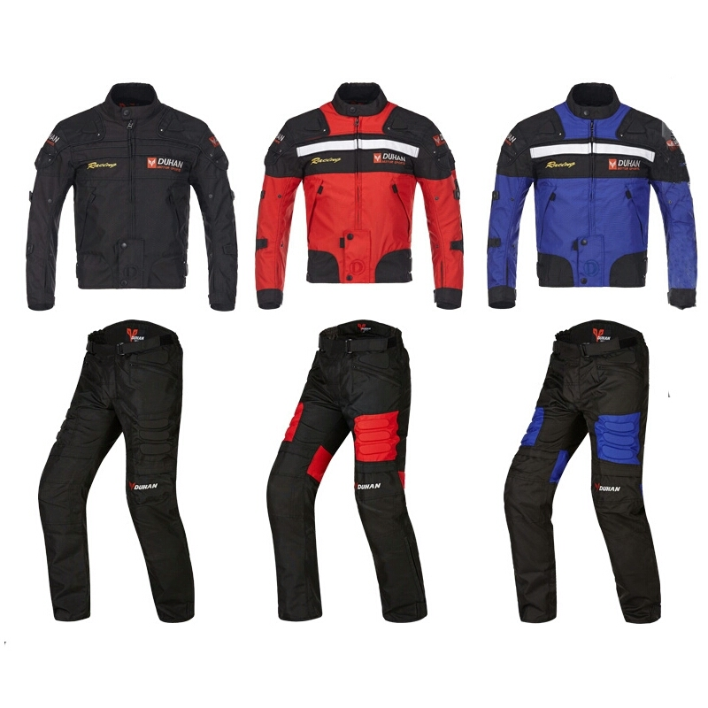 DUHAN motorcycle suit riding jacket motorbike racing clothing with removable cotton Lining JD020 free shipping 2013 new style red mens motorcycle jacket motorbike riding jacket suit with size s to xxxl free shipping