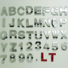 Серебристый высота 45 см буквы алфавита цифра автомобильная