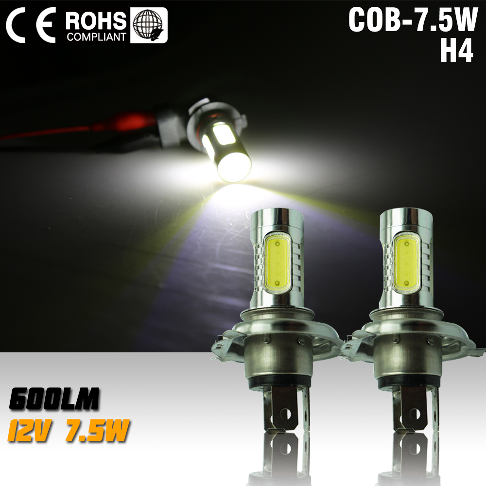 2pcs led h4 7.5w high power led bulb LED Turn Brake Stop Signal Tail Fog Bulb Light Lamp led bulb fog light white