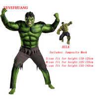 VEVEFHUANG Super Hulk Kostüm Kinder Jungen Unglaubliche kinder Superhelden Avengers Hulk Halloween Muscle Grün Cosplay Overalls