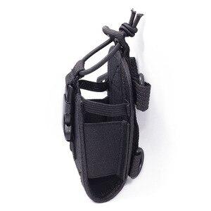 Image 3 - 2pcs Abbree MSC 20E Portable Radio Nylon Case Cover Handsfree Holder for Walkie Talkie Baofeng UV 5R UV XR UV 9R Plus BF 888S