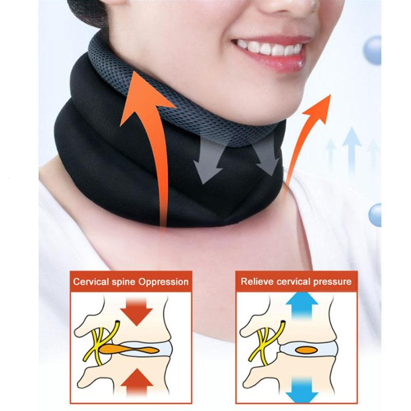 1PC Neck Soft Support Air Brace Relief Pain Posture Correct Cervical Collar Therapy Neck Massage Torticollis Correction Care R3 цена 2017