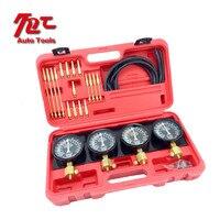 4 Cylinder Balance Gauge Fuel Vacuum Carburetor Synchronizer Gauge Set Kit Rubber Hose