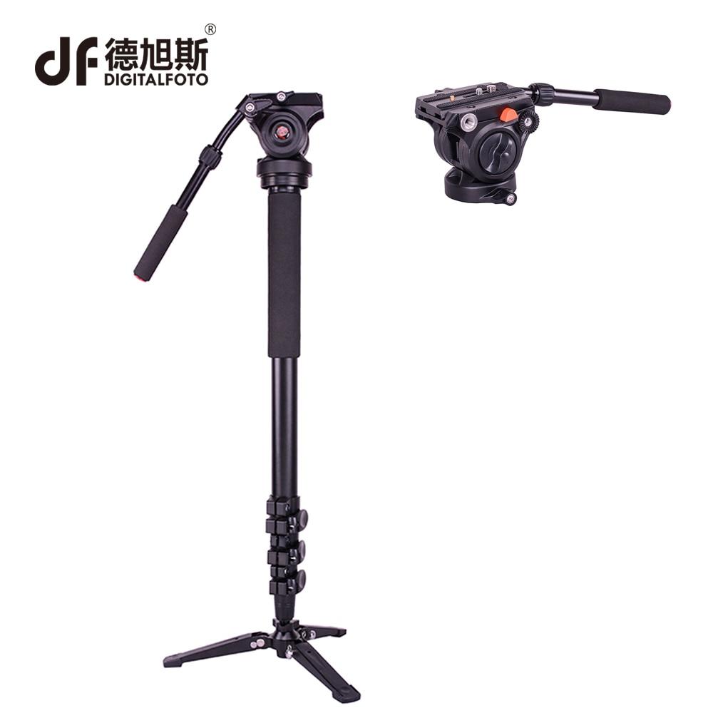 DM01A 3KG bear Alloy professional camera tripod monopod DSLR stand portable light video stick monopod+ fluid head table tripod цена