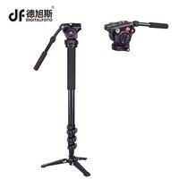 DM01A 3KG bear Alloy professional camera tripod monopod DSLR stand portable light video stick monopod+ fluid head table tripod
