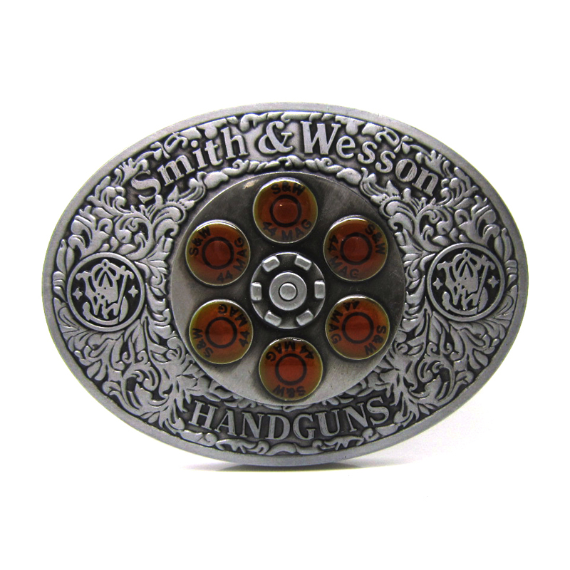 Smith&Wesson 44MAG Spinner Western Belt Buckle