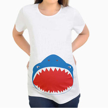 Comfortable Maternity T-shirt Pregnant Women Maternity Short Sleeve Cartoon Print Tops T-shirt Pregnancy Clothes Maternity Tops