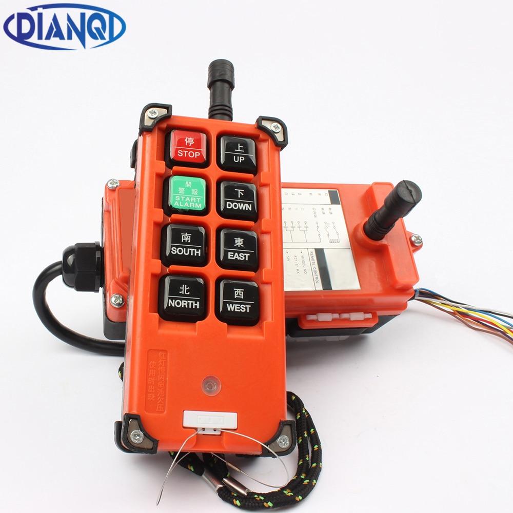 AC 220 V 110 V 380 V 36 V 36 V DC 12 V 24 V 48 V 48 V Industrial controlador remoto de elevación control de la grúa de elevación 1 transmisor + 1 receptor