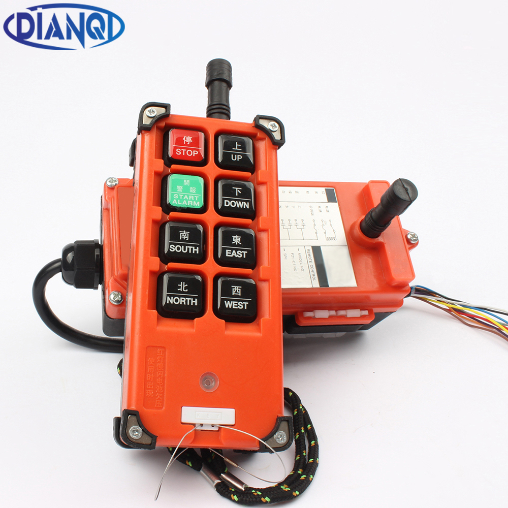 AC 220V 110V 380V 36V DC 12V 24V 48V Industrial remote controller Hoist Crane Control Lift Crane 1 transmitter + 1 receiver цена