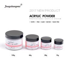 fengshangmei Clear Crystal Nail Sculpture Powder White Builder Powder For Nail Pink Nail Acrylic Powder