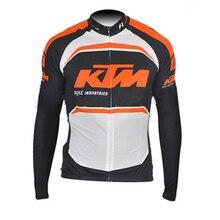 Pro Team KTM Cycling jersey 2017 long sleeves road bike shirts Breathable Cycle Clothing MTB maillot Ropa Ciclismo China G26