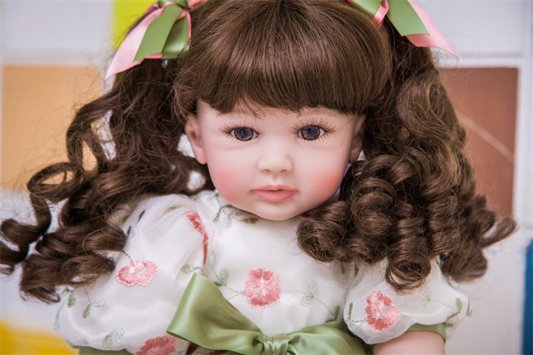 60cm Silicone Reborn Girl Baby Doll Toys Lifelike 24inch Vinyl Princess Toddler Babies Dolls Fashion Birthday Gift Xmas Present