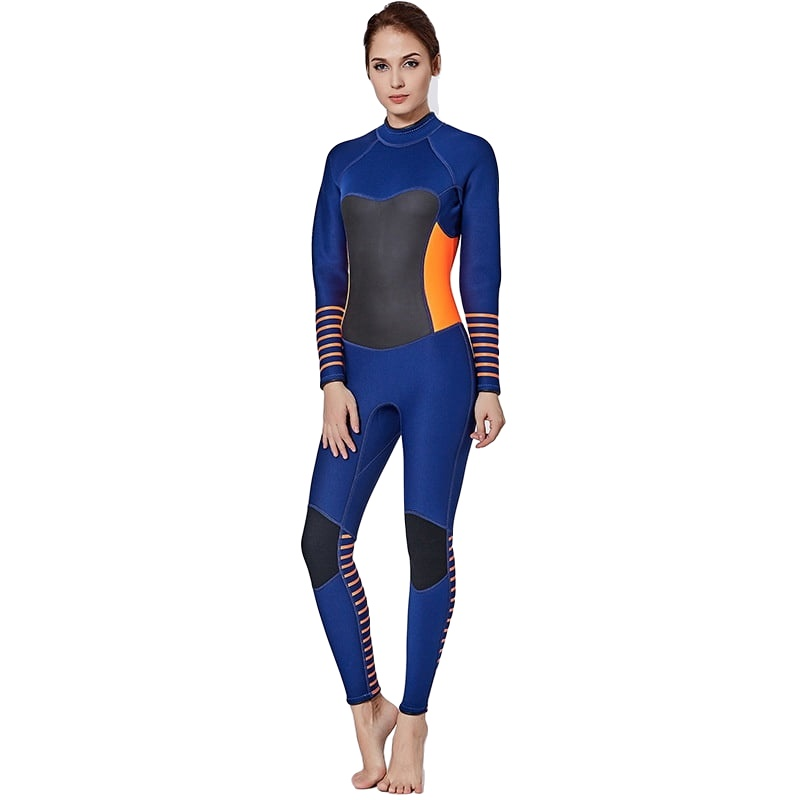 Women Girl 3mm Neoprene Spearfishing Wetsuit One Piece Swimsuit Diving Surf Swim Wet Suit Swimwear Long sleeve Beach Triathlon high quality zipper long sleeve women swimsuit round collar sexy one pieces swimwear girl wetsuit diving swimming suit