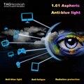 1.61 импортные смолы объектив высокого качества анти-синий свет усталость оптические линзы Очки компьютер излучения линзы