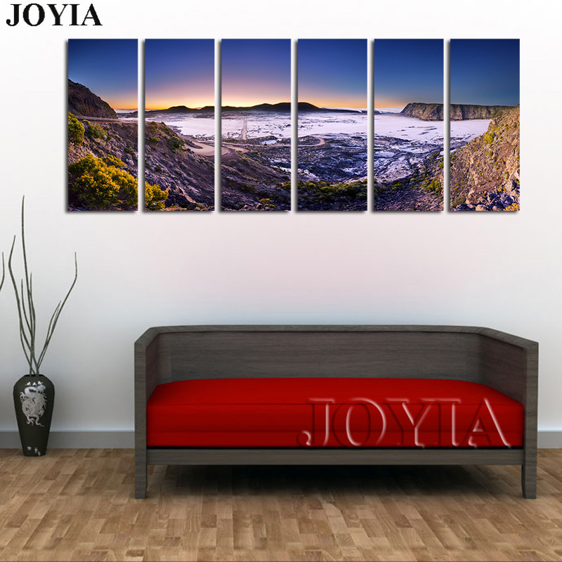 6 Piece Large Landscape Canvas Paintings For Living Room Wall Art ...