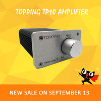 Topping TP10 audio amplifier 2.1 hifi power amplifier preamp class d amplifier volume control amplificador audio