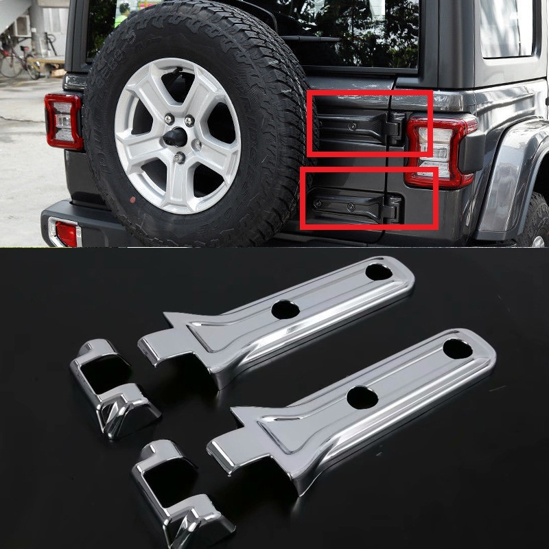 Auto Replacement Parts Chromium Styling Modified Car Door Lock Switch Box Interior Special Door Decoration Car Accessories For Jeep Wrangler Jl 2018 2019