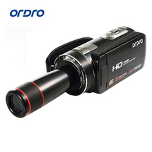 Ordro HDV-Z18 Plus HD 1080P Digital Camcorder DV Camera Video DVR 3″ LCD Touch Screen 16x Zoom Teleconverter Lens Black