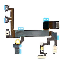 100% New FOR iPhone 5S Power On Off Volume Lock Switch Mute Button Sensor Flex Cable Replacement