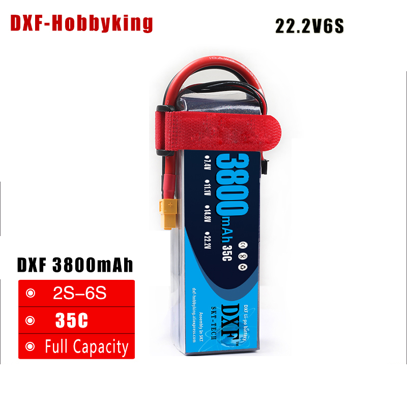 2017 DXF Lipo Battery 22.2V 3800MAH 35C 6S MAX 60C T/XT60 LiPo RC Battery For Rc Helicopter Car Boat drone truck quadcopter battery lipo 6s 22 2v 3300mah 60c for rc quadcopter helicopter drone boat car airplane model remote control toys lipo battery