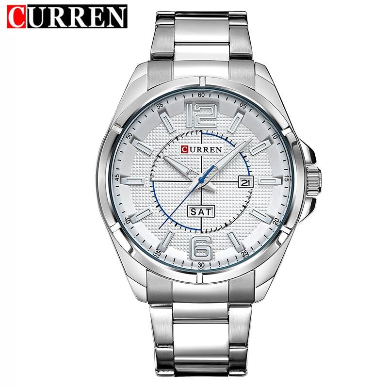 CURREN Brand Men Watches business Quartz 30M waterproof watches men s stainless steel band auto date