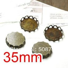 Free shipping!!! Bronze Tone Cabochon Frame Settings 35mm