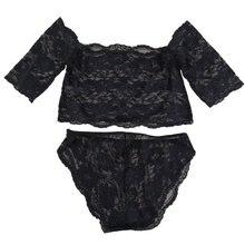 Sexy Lady Rendas Terno Lingerie Babydoll Mulheres Roupa Interior Pijamas Sleepwear