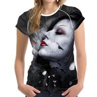 Fashion Gothic Style Woman Short Tees Brand Designer Casual O Neck T shirts for Teen Girls Harajuku O Neck T shirts