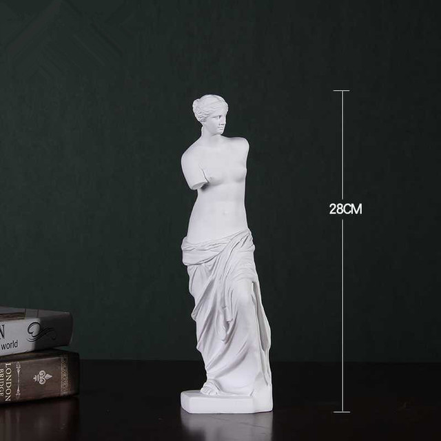 Venus Bust Sculpture Statue Resin Sketch Draw Artist Model Body Decor Gift R12