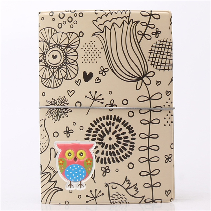 Color the owl passport cover1