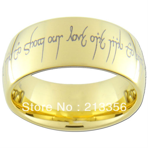 10PCS/LOT FREE SHIPPING!USA WHOLESALES CHEAP PRICE 8MM WOMEN&MENS HIS/HER Golden DOME THE LORD TUNGSTEN CARBIDE WEDDING RINGS