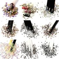 Glitter Rhinestones Mix Colors Crystal AB SS3 SS20 Non Hot Fix FlatBack Strass Sewing Fabric Garment Nail Art DIY Rhinestone