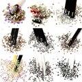 Glitter Steentjes Mix Kleuren Crystal AB SS3-SS20 Niet Hot Fix Plaksteen Strass Naaien Stof Kledingstuk Nail Art DIY Strass