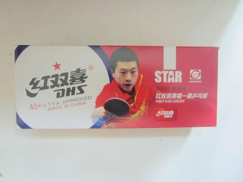 Оригинальные DHS новый материал 1 звезда Таблица DHS теннисный мяч настольный теннис ракетки ракетка спорт 40 + пинг-понга шары