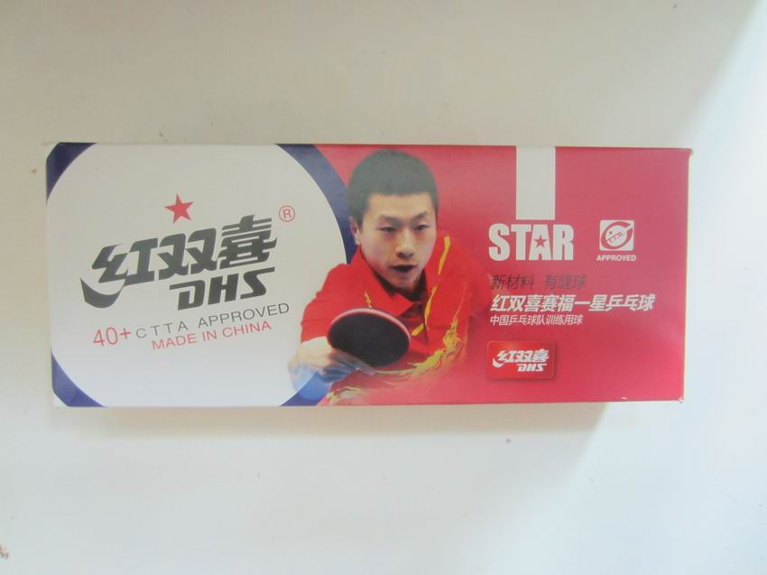 Original DHS new material 1 star dhs table tennis ball table tennis rackets racquet sports 40+ pingpong balls