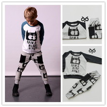2016 autumn winter child BOy CLOTHES KIDS CLOTHES KIKIKIDS WHOLESALE TOPS children pants and hoodies clothes units beau loves pajama