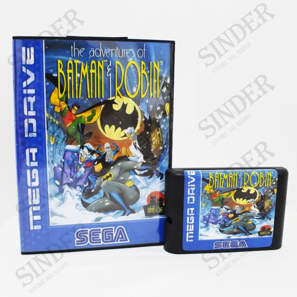 The Adventures Of Batman & Robin Boxed Version 16bit MD Game Card For Sega Mega Drive And Genesis